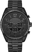 Caravelle Designed by Bulova Men's Quartz Watch with Stainless-Steel Strap, Black, 21.75 (Model: 45B150)