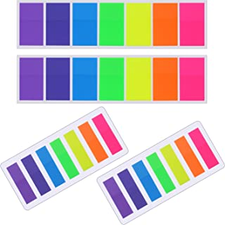 560 Pieces Sticky Notes Flags Index Tabs Text Highlighter Strips Writable Labels Page Marker Bookmarks, 2 Sizes, 7 Colors, 4 Sets