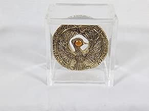 Reel Art Indiana Jones, Staff of Ra, Egyptian Headpiece, Antique Gold, Amber Jewel, Custom Acrylic Case, Solid Metal