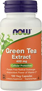NOW FOODS Green Tea Extract 400mg 60% Capsules, 100 CT