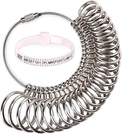 H&S Ring Sizer Gauge Set Metal Finger Measure Sizing Measuring UK A-Z Women Men