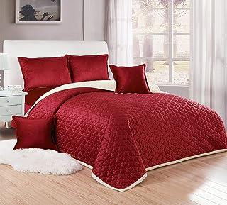 Compressed Two-Sided Velvet Comforter Set, Single Size, 4 Piece