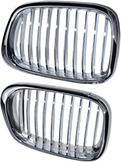 Set Left & Right Front Hood Grills for BMW 51137005837 51137005838 Chrome New