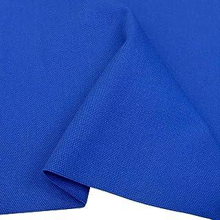 TOLKO 50cm Schwerer Canvas-Stoff | Robuster Polsterstoff/Bezugsstoff Baumwoll-Segeltuch zum Polstern und Beziehen | 1,5mm dick | Reißfest Abriebfest | Baumwollstoffe Meterware 150cm breit Royal Blau