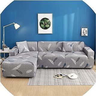 retro store 2 pcs Corner Sofa Cover Elastic Couch Cover for Sofa Sectional L Shaped Sofa Cover Chaise Longue Stretch Sofa Slipcover L Shape,24,80-140cm 195-230cm