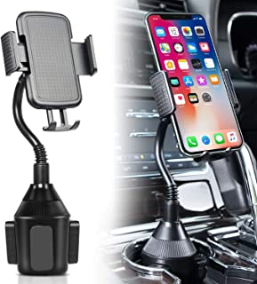 DELEE Cup Holder Phone Mount Universal Adjustable Gooseneck Cup Holder Cradle Car Mount for Cell Phone iPhone Xs/XS Max/X/...