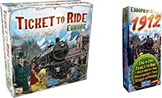 Ticket to Ride Europe Bundled with Ticket to Ride: Europa 1912 Expansion