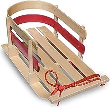 کودک آگهی قابل انعطاف بکشید. کودک نو پا به بوگان. سورتمه چوبی برای کودکان