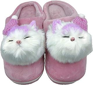 Pampy Angel W20 W Billi Women's Winter Slippers Flip Flops Slides Warm Fur Homewear Soft Cute Trendy