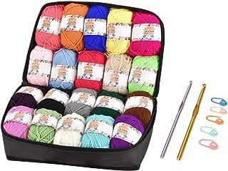 OIZEN Hand Knitting Yarn - Juego de 20 ovillos de Hilo de Ganchillo, 50 Metros (30 g) por Rollo, Multicolor, acrílico, Jue...