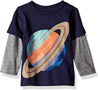Gymboree Baby Boys Long Sleeve 2-fer Graphic Tee
