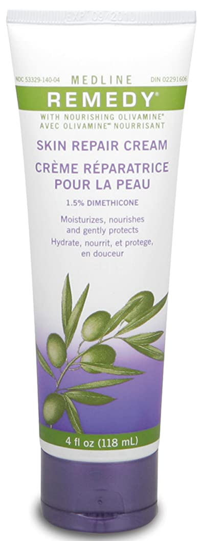 目の前のタービン利用可能Medline Remedy with Olivamine Skin Repair Cream 4oz 118ml