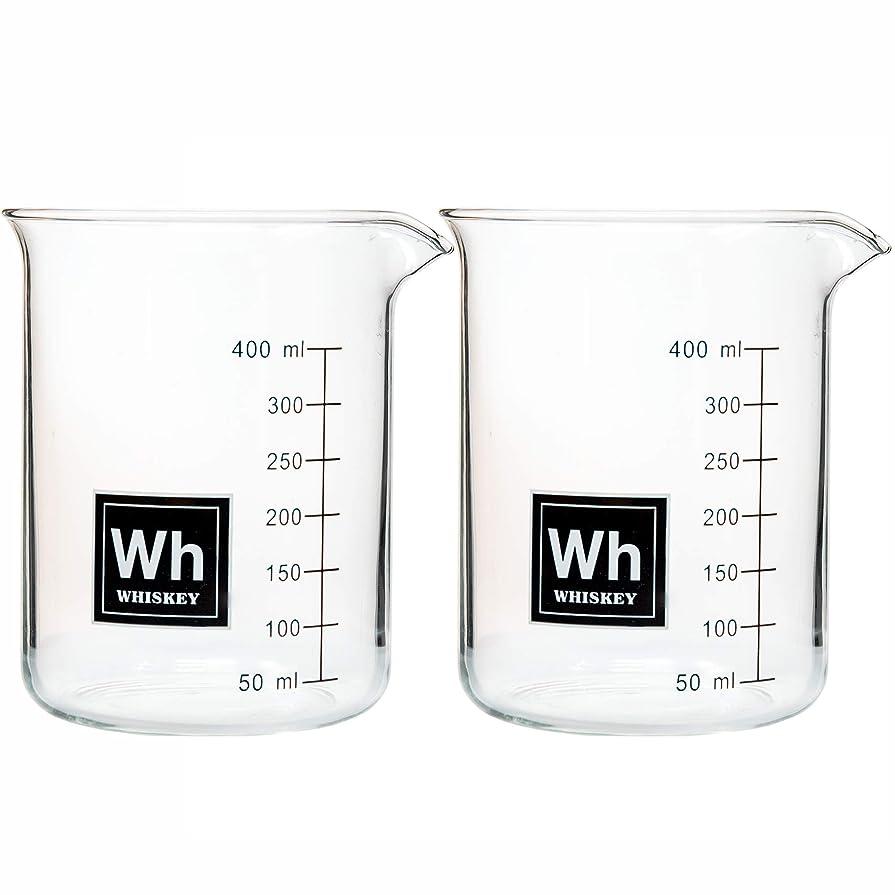 クリスマス会員はさみドリンク周期的に実験室ビーカーロックグラス - ウイスキー - 各16オンス