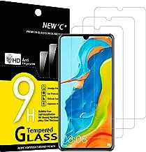 NEW'C Lot de 3, Verre Trempé Compatible avec Huawei P30 Lite, P30 Lite XL, Nova 4e, Film Protection écran sans Bulles d'air Ultra Résistant (0,33mm HD Ultra Transparent) Dureté 9H Glass
