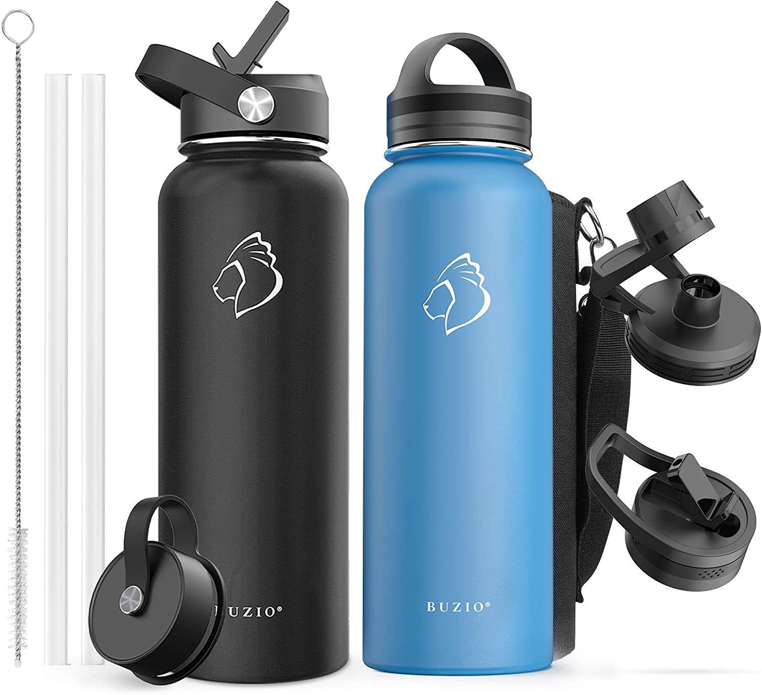 BUZIO Vacuum Insulated Stainless Steel 値引き 40oz with Bottle Water 贈答 40