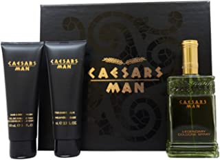 Caesars By Caesar'S World For Men. Gift Set ( Cologne Spray 4.0 Oz + Aftershave Balm 3.3 Oz + Shave Cream 3.3 Oz )