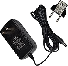 HQRP AC Adapter for Gold's Gym Stride Trainer 500 400Ri 400-Ri Elliptical Exerciser GGEL649070 Power Supply Cord [UL Listed] + Euro Plug Adapter