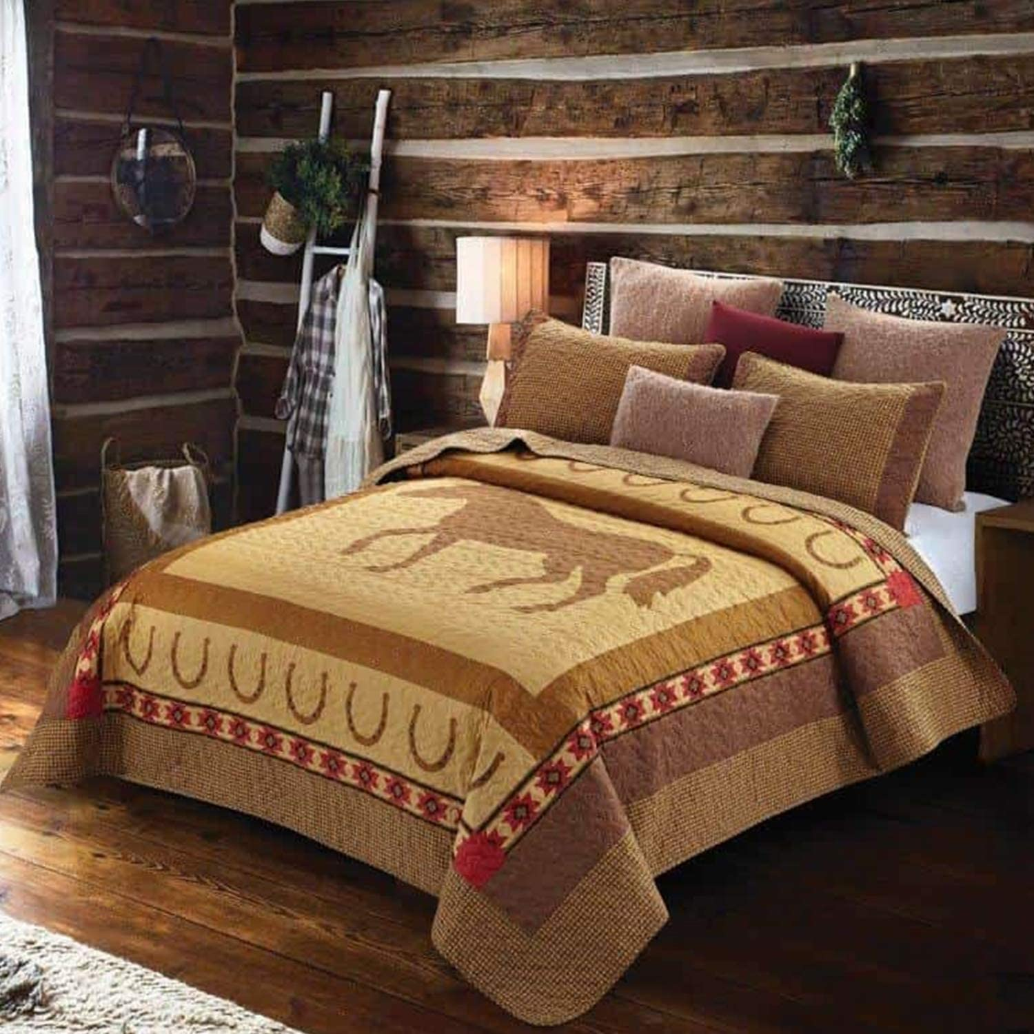Quilt Bedding Set in King by Horseshoe Virah Horse Directly managed store High material - Bella Pri