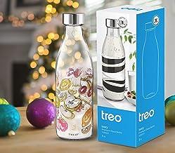 Treo by Milton Ivory Premium Glass Printed Bottle 1000 ml, 1 Pc, Fruits