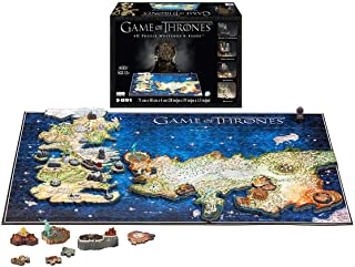 891-Pieces 4D Jigsaw Puzzle Game of Thrones Westeros and Essos, 3 Layers Puzzle Includes Replica Models, Poster Guide, Map Guide, and Double-Sided Stickers