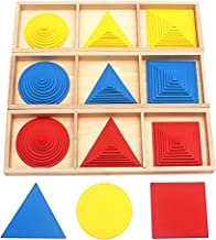 QLL Baby Toy Montessori Circles Squares Triangles Sensory Toys Early Childhood Education Preschool Training Kids