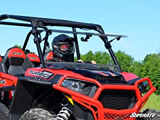 SuperATV Polaris RZR 900 / 1000 Scratch Resistant Flip Windshield (See details for fitment!) by Super ATV