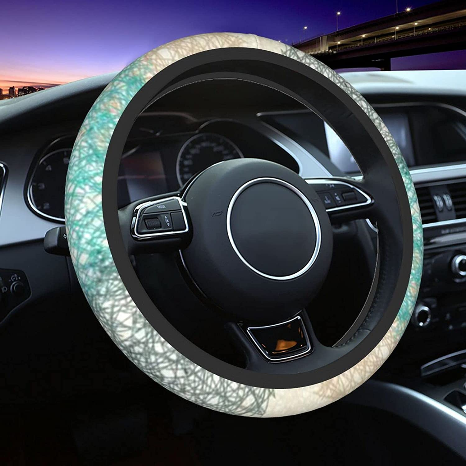 Beige Blue Green shopping Gray Circle Car Direct stock discount Cover Women for Steering Wheel