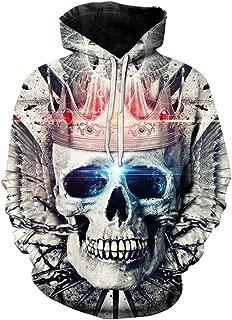 Crown Skull Print Sweatshirt3d Hoodie Autumn Casual Male Sweatshirt Hip Hop Horror Hoodie