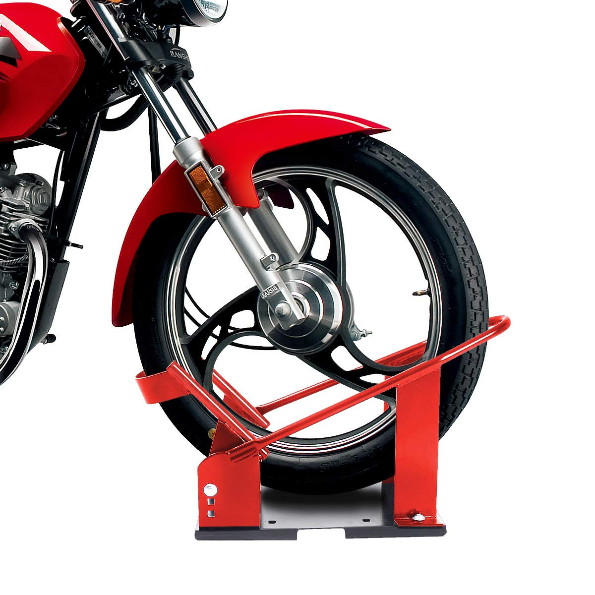 "Motorcycle Wheel Chock 17/"" 21/"" Tires Bike Stand Lift Mount Trailer"