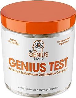 تقویت کننده تستسترون GENIUS TEST - هوشمند، پشتیبانی از انرژی طبیعی،  مغز، میل جنسی،  چربی سوزی و عضله سازی - 30 وعده
