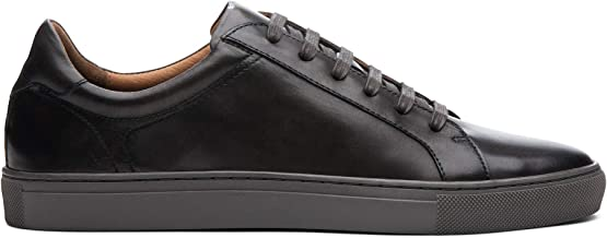 Blake McKay Jay Men's Court Sneaker Leather Low Top Fashion Sneaker with a Breathable Mesh Lining, Ortholite Insole, and D...