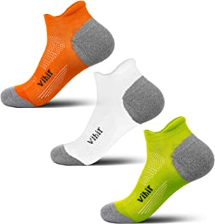 VIHIR Sport Running Athletic Socks Men/Women 2019 Updated Version -No Show Low Cut Comfort Cotton Socks,1/3/7Pair
