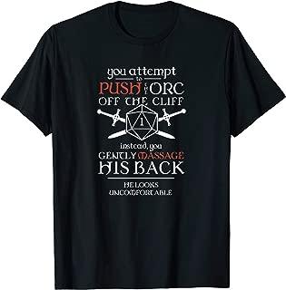 Tabletop RPG D20 Orc Massage Critical Failure T-Shirt