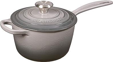 Le Creuset Enameled Cast Iron Signature Saucepan, 1.75 qt, Oyster