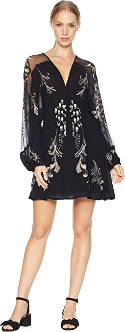 Bonjour Embroidered Mini Dress