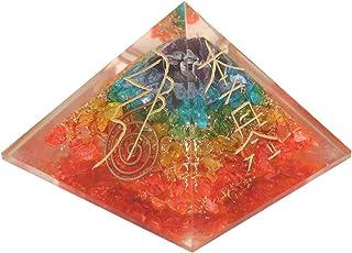 Aatm Energy Generator 7 Chakras Orgone Pyramid for EMF Protection Chakra Healing Meditation with Copper and Reiki Symbols...
