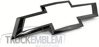 1 New Custom Black & White Silverado 1500 2014-2015 Grill Bow TIE Emblem