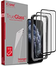 iCarez Tempered Glass Screen Protector for iPhone 11 Pro 2019 iPhone Xs 5.8-inch [Full Coverage + Tray Installation] Case Friendly Easy Apply [ 2-Pack 0.33MM 9H 2.5D]