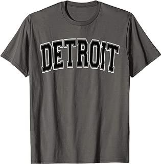 Detroit T Shirt - Varsity Style Black Text