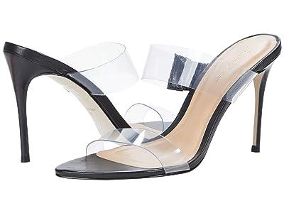 Massimo Matteo Vinyl Strapped Sandal (Black) Women