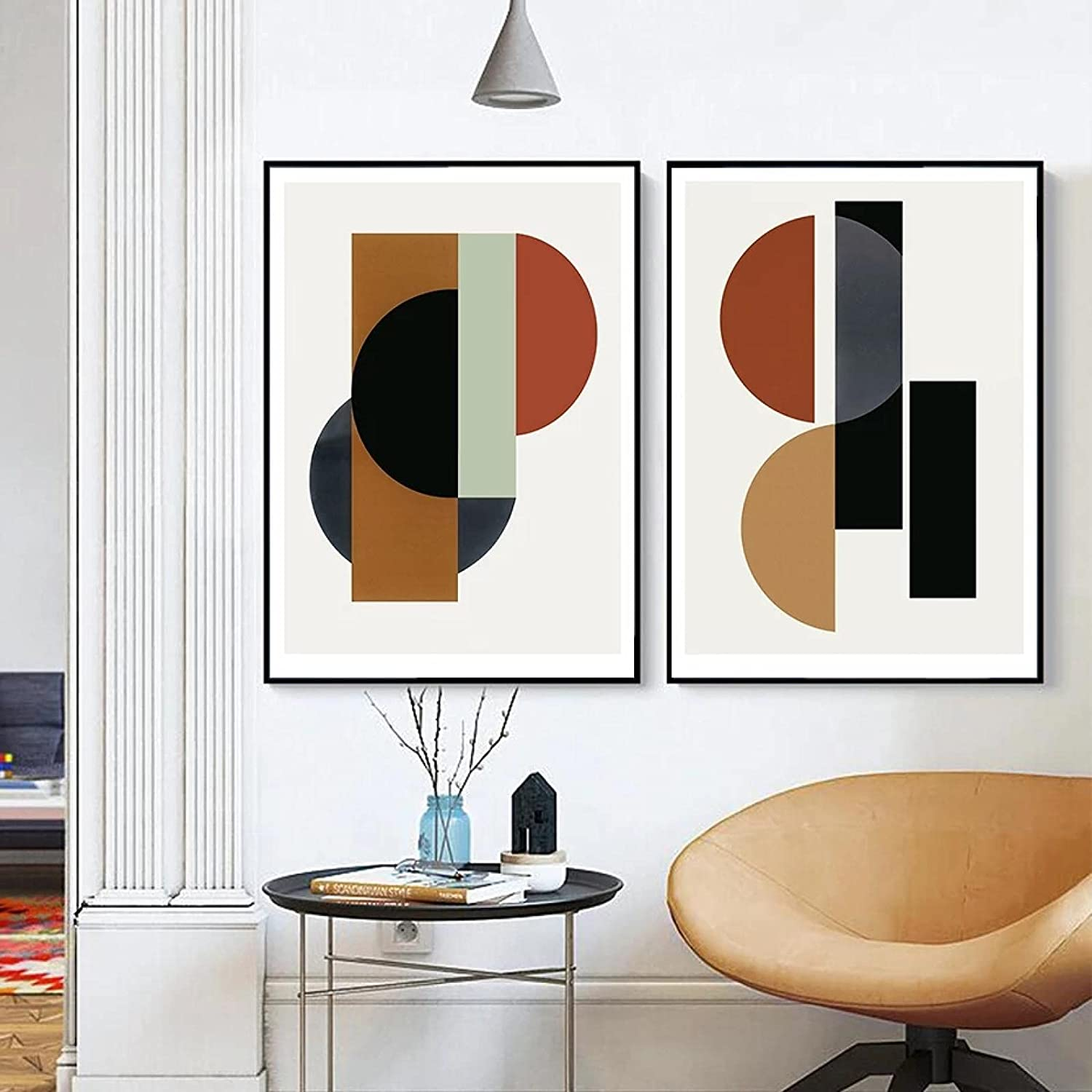 Wall art Abstract Geometric Shapes 2021 spring and summer new Popular product Scandinavian P Nordic Canvas