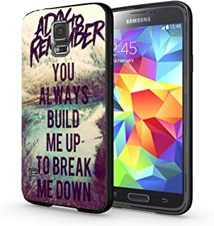 a day to remember lyric you always build me up to break me down for Samsung Galaxy S5 Black case