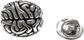 Silver Toned Anatomical Brain Lapel Pin