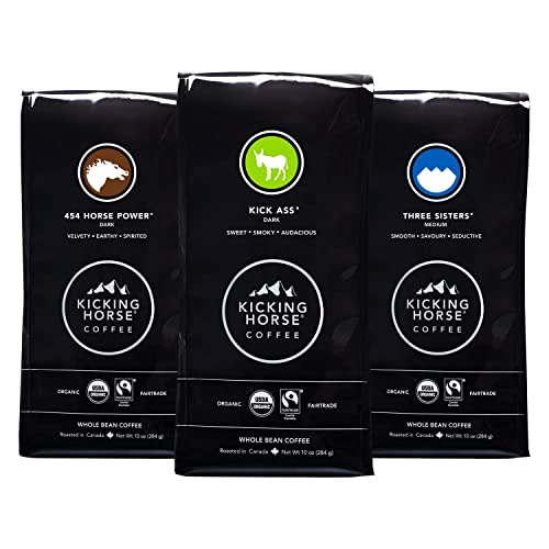 Kicking Horse Coffee Whole Bean Variety Pack (Pack of 3 Flavors)