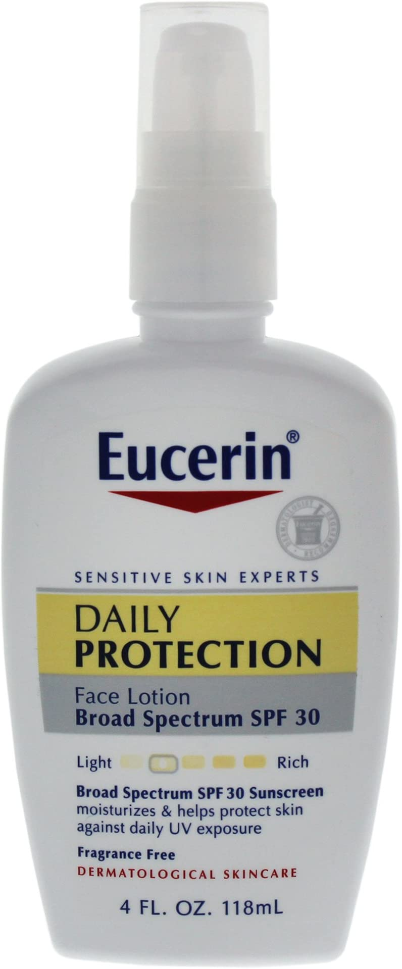 Eucerin Daily Protection Moisturizing Face Lotion, SPF 30 4 fl oz (118 ml) (Pack of 2)
