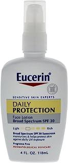 Eucerin 日常保護保濕面部乳,SPF 30 4 Ounce (Pack of 2)
