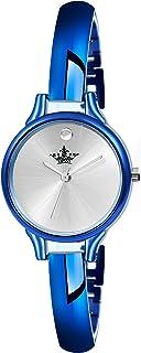 Swisso Analogue Round Dial Royal Blue Plated Bracelet Women's/Girl's Wrist Watch