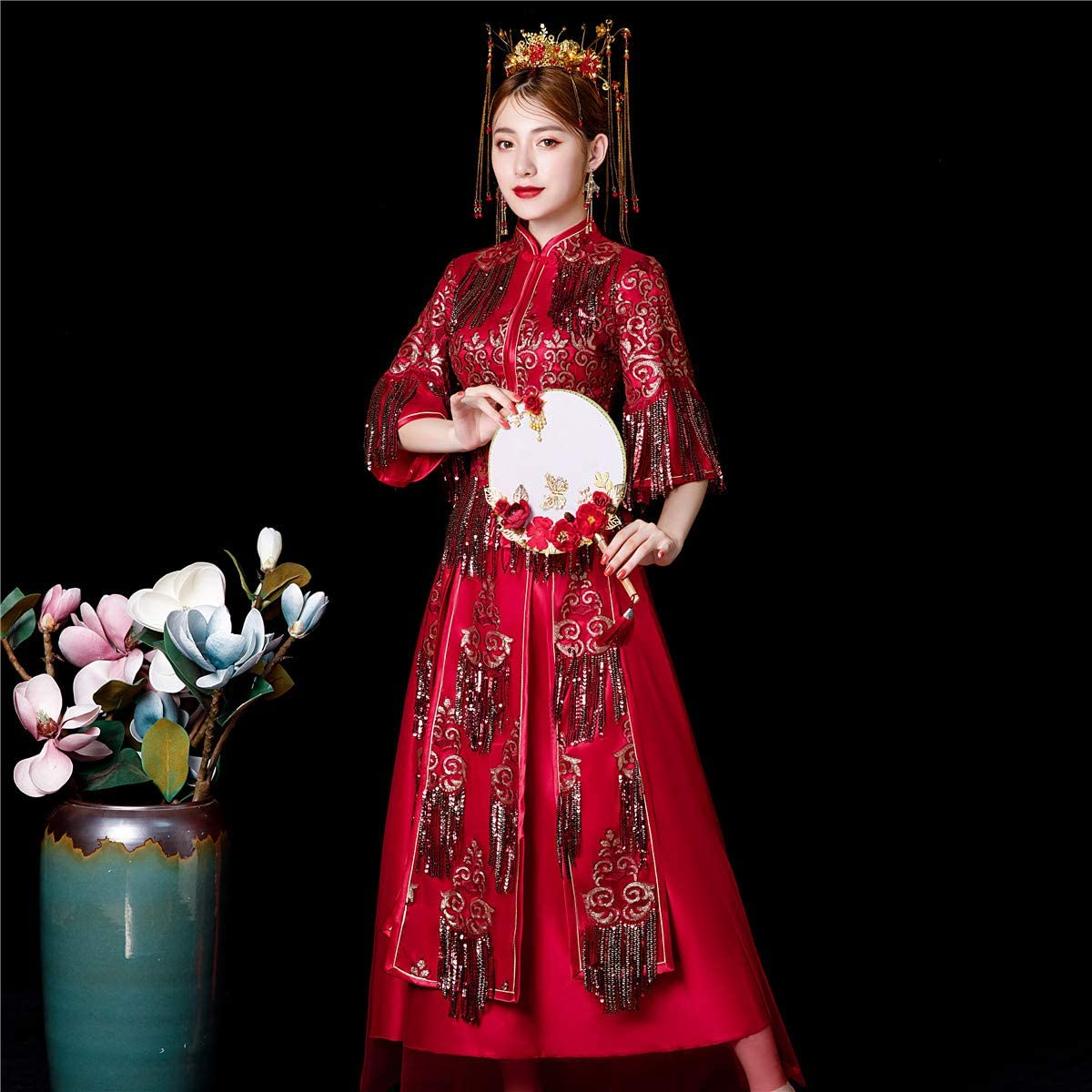 Shanghai Story Chinese Wedding Suit Qipao Style Dress Cheongsam Xiuhe Set
