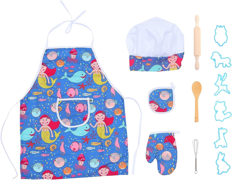 NUOBESTY latest Charlotte Mall Kids Baking Sets Chef C Costume Play Role Set