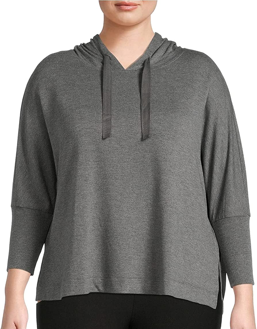 Medium Grey Heather Plus Size Pullover Hoodie